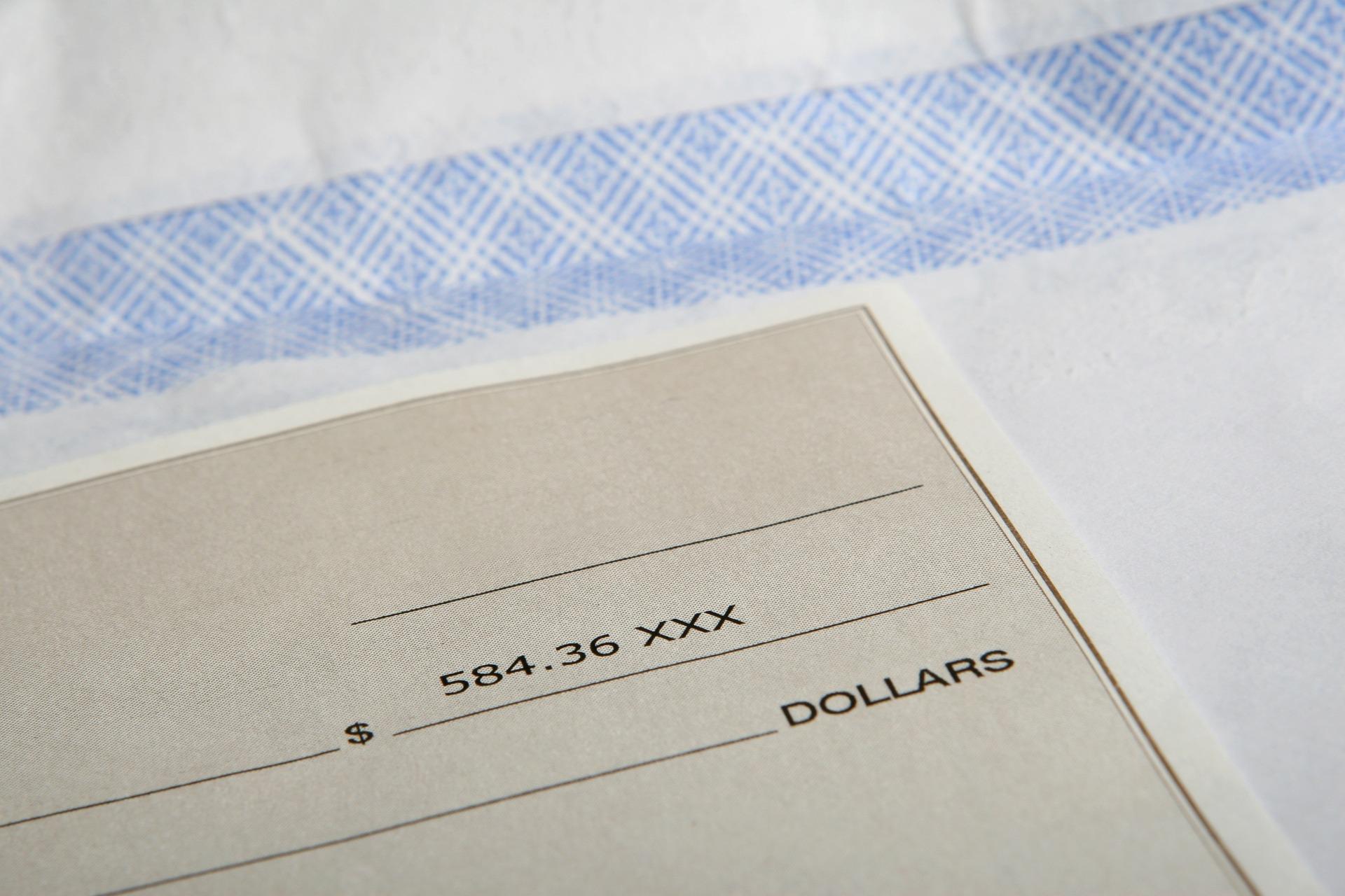 Cheque enclosed